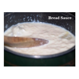 Tarjeta de la receta - salsa de pan tarjeta postal