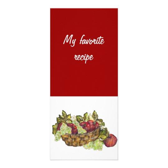 tarjeta de la receta tarjeta publicitaria personalizada