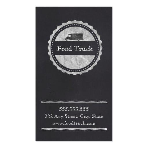 Tarjeta de la recompensa del cliente del camión de tarjetas de visita