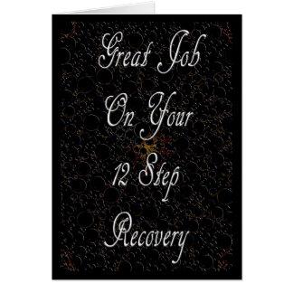 Tarjeta de la recuperación de 12 pasos