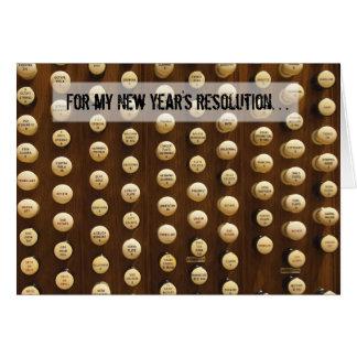 Tarjeta de la resolución del Año Nuevo