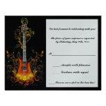 tarjeta de la respuesta de la guitarra del mitzvah comunicados personales