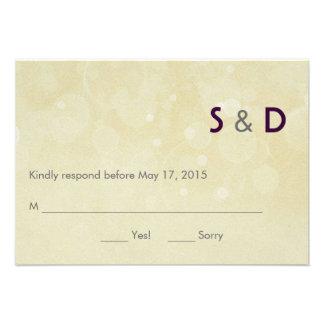 Tarjeta de la respuesta de las iniciales comunicado personal