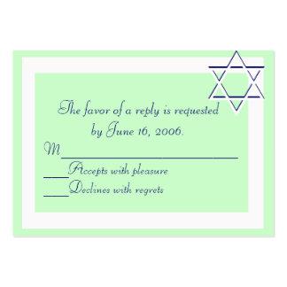 Tarjeta de la respuesta de las invitaciones de Mit Tarjeta De Visita