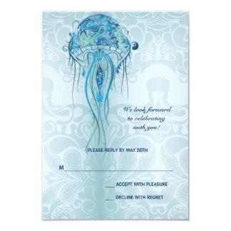 Tarjeta de la respuesta de las medusas del comunicados personales