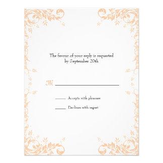 Tarjeta de la respuesta de las vides del boda mel invitaciones personales