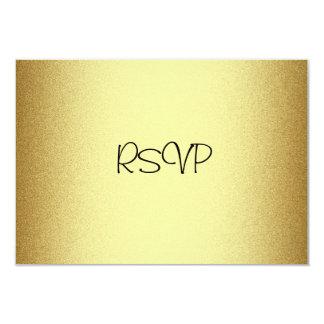 """Tarjeta de la respuesta de RSVP todo el oro Invitación 3.5"""" X 5"""""""