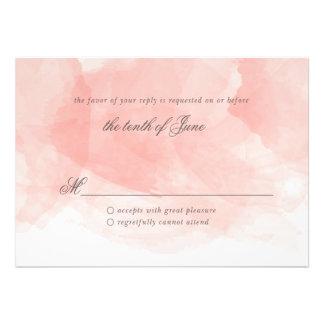 Tarjeta de la respuesta del boda de la acuarela comunicado personalizado