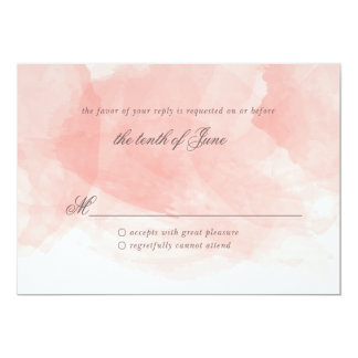 """Tarjeta de la respuesta del boda de la acuarela invitación 5"""" x 7"""""""