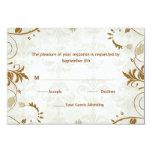 Tarjeta de la respuesta del boda de la caída comunicado personalizado