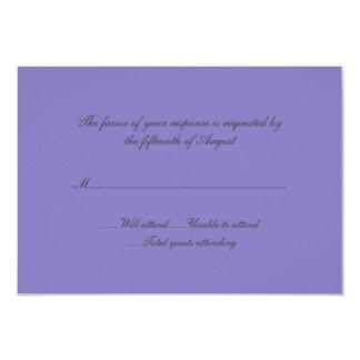 Tarjeta de la respuesta del boda de la lavanda comunicados personales