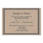 Tarjeta de la respuesta del boda de la marina de invitación 8,9 x 12,7 cm
