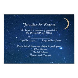 """Tarjeta de la respuesta del boda de la noche invitación 3.5"""" x 5"""""""