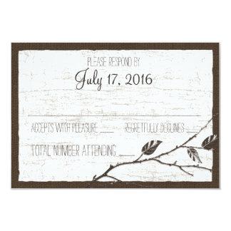 """Tarjeta de la respuesta del boda de los ciervos de invitación 3.5"""" x 5"""""""