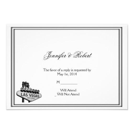 Tarjeta de la respuesta del boda del destino de La Invitaciones Personalizada