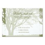 Tarjeta de la respuesta del boda del invierno del comunicados personalizados