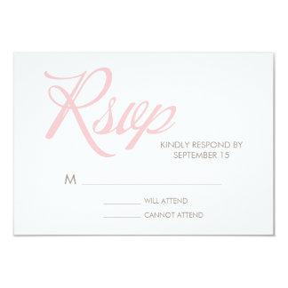 Tarjeta de la respuesta del boda del modelo de invitacion personalizada