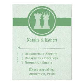 """Tarjeta de la respuesta del boda del rey y de la invitación 4.25"""" x 5.5"""""""