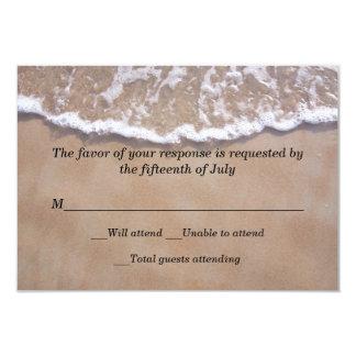 Tarjeta de la respuesta del boda del tema de la invitacion personal