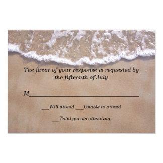 Tarjeta de la respuesta del boda del tema de la pl invitacion personal
