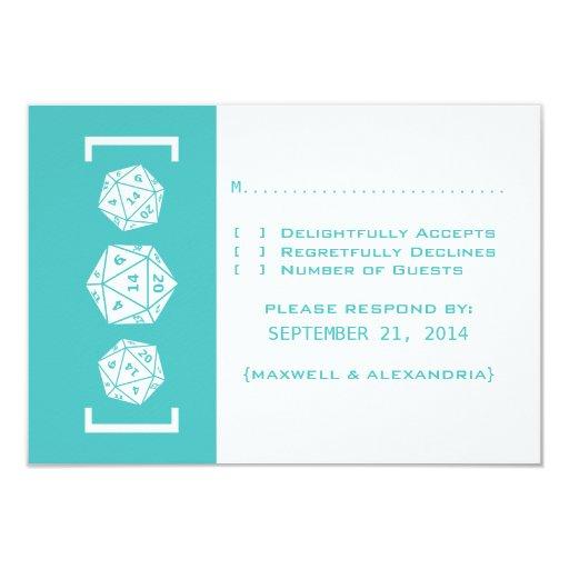 Tarjeta de la respuesta del boda del videojugador invitación 8,9 x 12,7 cm