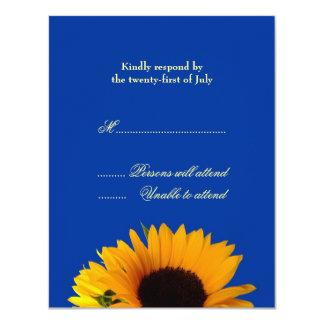 """Tarjeta de la respuesta del boda invitación 4.25"""" x 5.5"""""""