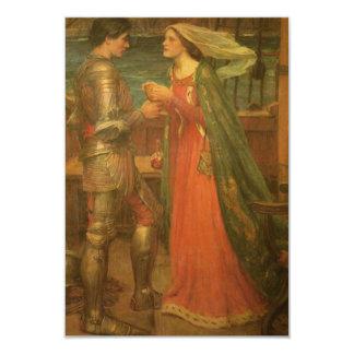 """Tarjeta de la respuesta del boda, Tristan Isolda, Invitación 3.5"""" X 5"""""""