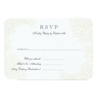 """Tarjeta de la respuesta del cordón del vintage invitación 3.5"""" x 5"""""""