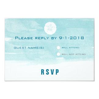 Tarjeta de la respuesta del dólar de arena de la invitación 8,9 x 12,7 cm
