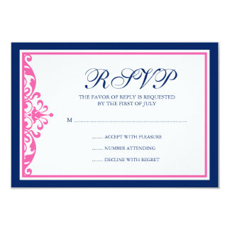 """Tarjeta de la respuesta del Flourish de los azules Invitación 3.5"""" X 5"""""""