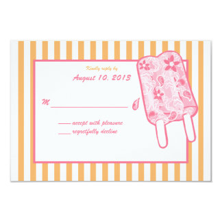 """Tarjeta de la respuesta del helado de Paisley Invitación 3.5"""" X 5"""""""