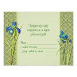 Tarjeta de la respuesta del jardín del iris invitación 10,8 x 13,9 cm