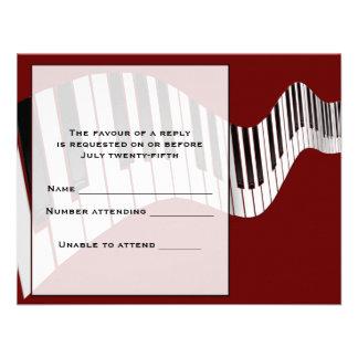Tarjeta de la respuesta del teclado invitación