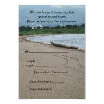 Tarjeta de la respuesta del tema de la playa - invitación 8,9 x 12,7 cm