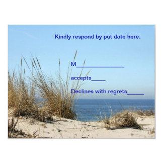 Tarjeta de la respuesta del tema de la playa invitación 10,8 x 13,9 cm