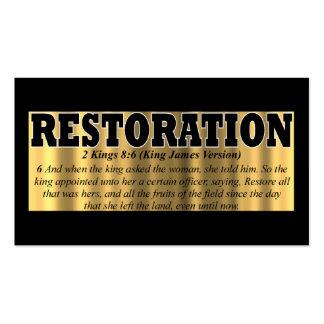 Tarjeta de la restauración tarjeta de visita