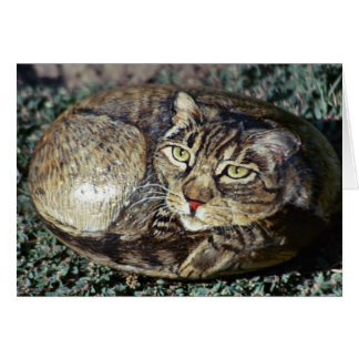 "Tarjeta de la roca del gato de ""Cappuchino"""