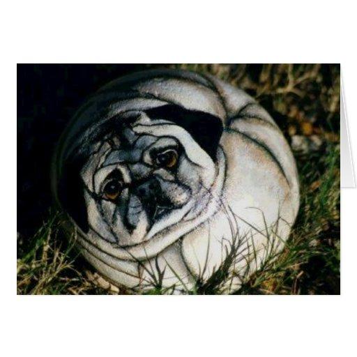 """Tarjeta de la roca del perro de """"Pugsy"""""""