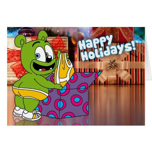 Tarjeta de la ropa interior del navidad de Gummibä