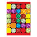 Tarjeta de la rueda de Dharma