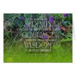Tarjeta de la sabiduría 2 del valor de la serenida