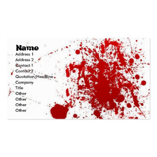 Tarjeta de la salpicadura tarjetas de visita