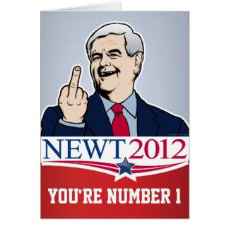Tarjeta de la sátira de Newt Gingrich