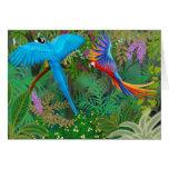 Tarjeta de la selva del Macaw