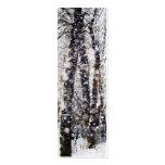 Tarjeta de la señal de los árboles de la nieve de  tarjetas de visita