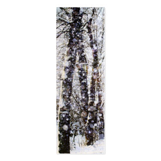 Tarjeta de la señal de los árboles de la nieve de tarjetas de visita mini