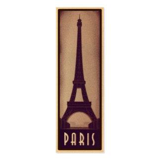Tarjeta de la señal de París con la silueta de la Tarjetas De Visita Mini