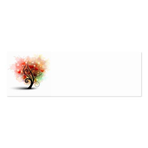Tarjeta de la señal del árbol del corazón tarjetas de visita mini