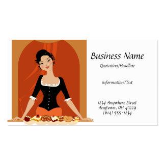 Tarjeta de la señora visita de los pasteles tarjetas de visita