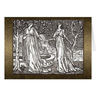 Tarjeta de la sepia de William Morris